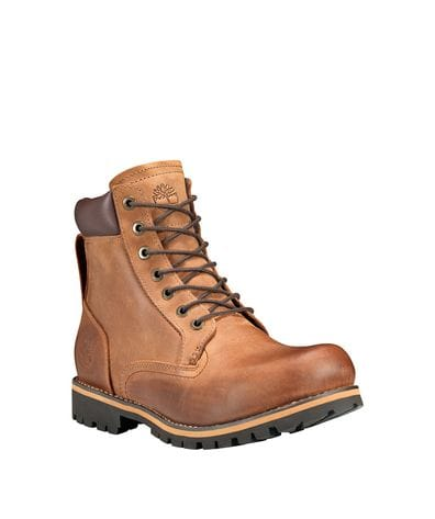 Timberland Men's Rugged 6-in Waterproof Boots in Mid Brown Full Grain