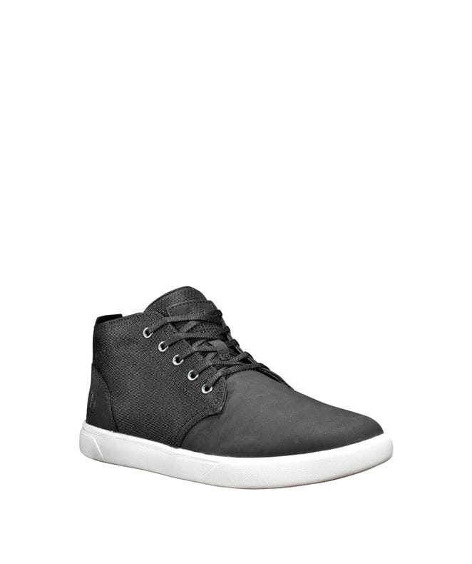 Timberland Men's Groveton Chukka Shoes in Black Nubuck/Canvas