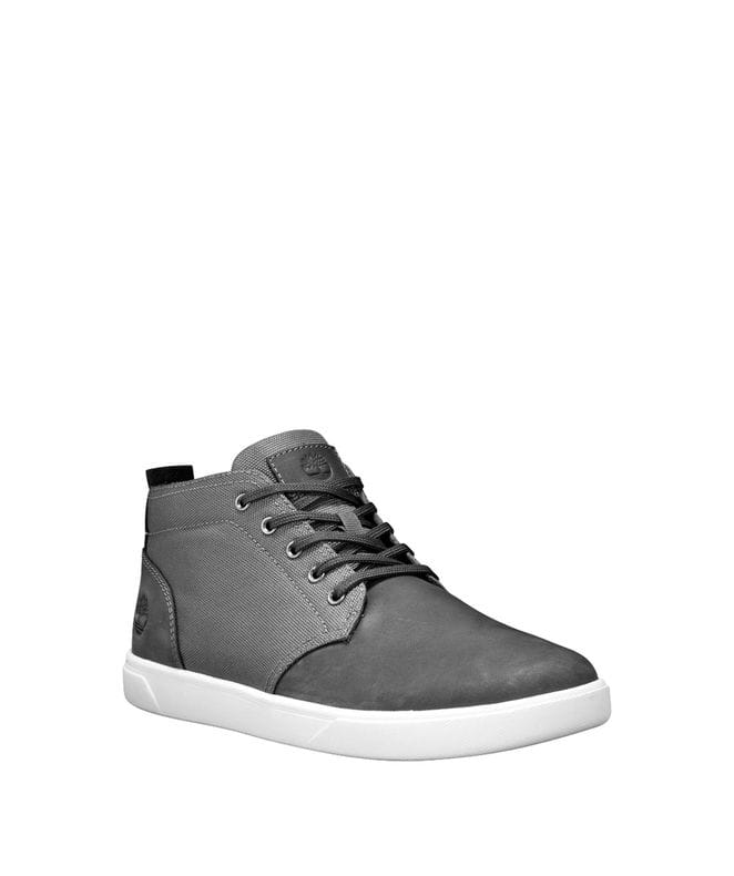 Timberland Men's Groveton Chukka Shoes in Dark Grey Nubuck