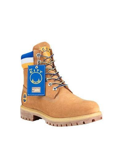 Timberland & Mitchell Ness Men's NBA Golden State Warriors Boots in Wheat