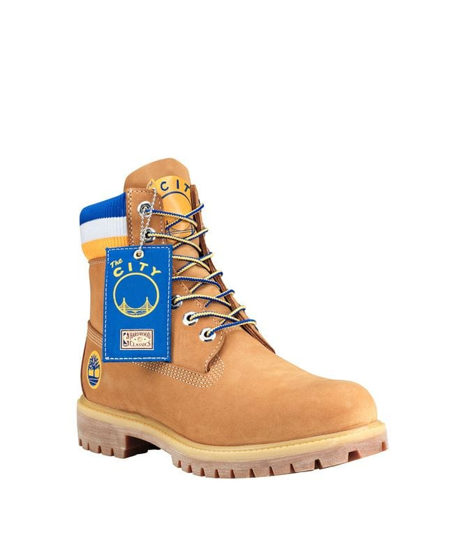Timberland & Mitchell Ness Men's Golden State Warriors Boots in Wheat