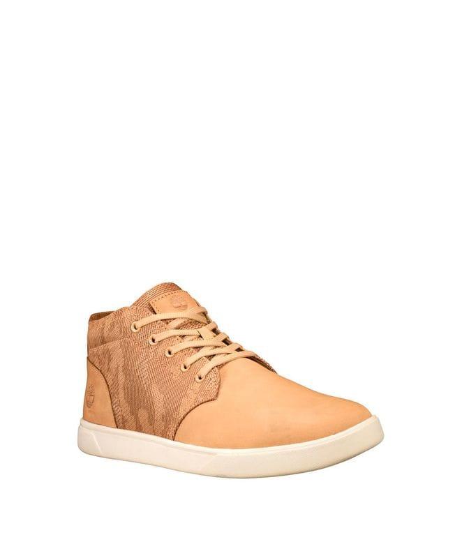 Timberland Men's Groveton Chukka Shoes in Wheat Camo Nubuck