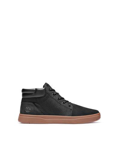 Timberland Men's Davis Square Fabric-Leather Chukka Shoe in Black Nubuck