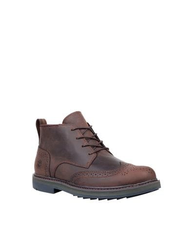 Timberland Men's Squall Canyon Waterproof Chukka in Dark Brown