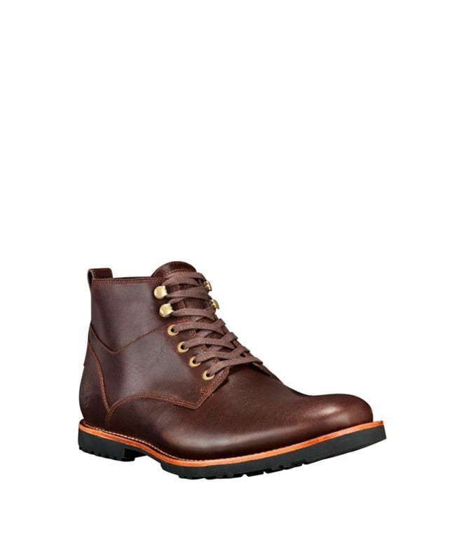 Timberland Men's Kendrick Waterproof Chukka Boots in Dark Brown