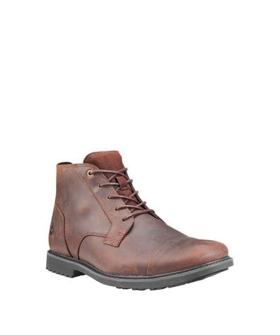 Timberland Men's Lafayet Captoe Waterproof Chukka in Dark Brown