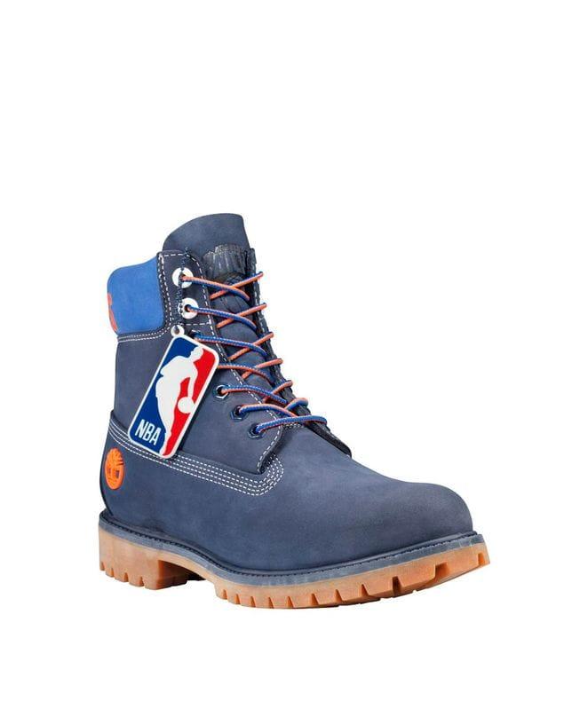 Timberland Men's X NBA New York Knicks Team Boots in Dark Blue Nubuck
