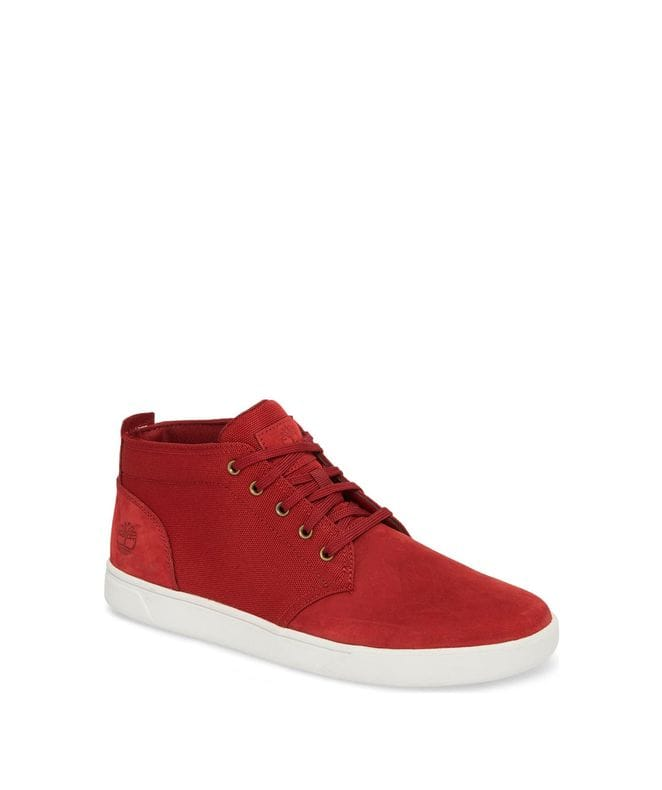 Timberland Men's Groveton Chukka Shoes in Burgundy