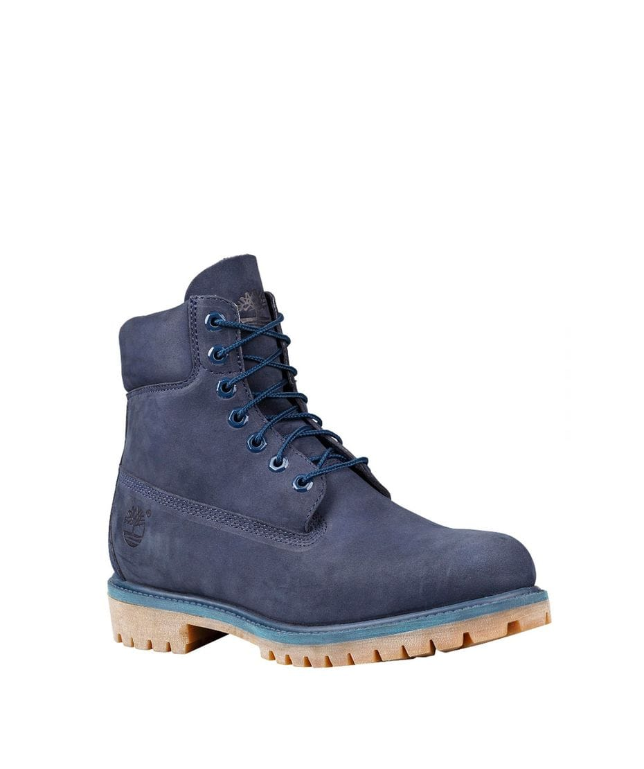 Timberland Men's Icon 6-in Premium Waterproof Boot in Navy Waterbuck