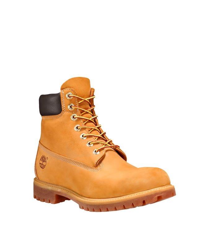 Timberland Men's 6-In Premium Waterproof Boots Wheat Nubuck