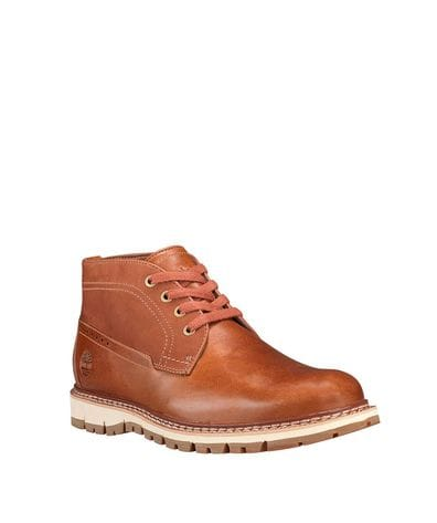 Timberland Men's Britton Hill Waterproof Chukka Shoes in Mid Brown