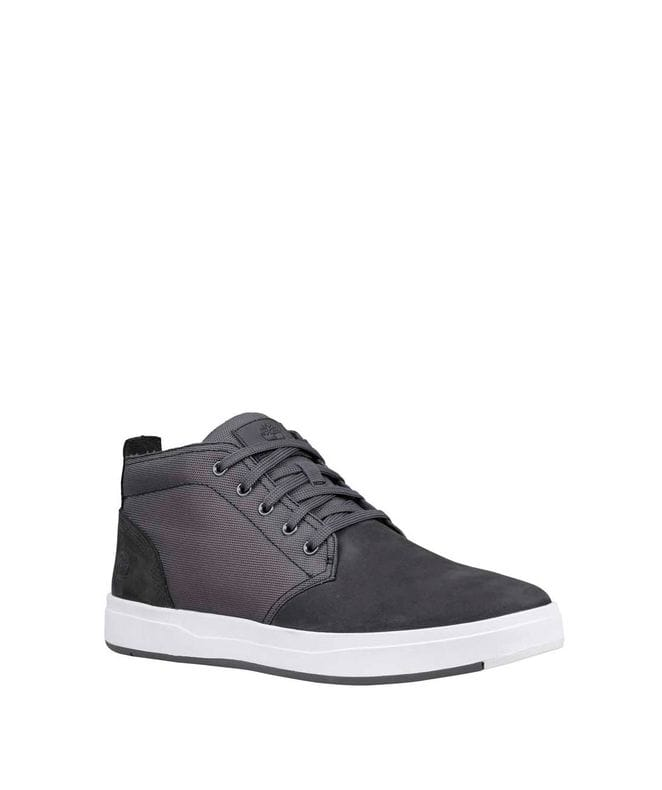 Timberland Men's Davis Square Fabric-Leather Chukka Shoe in Dark Grey