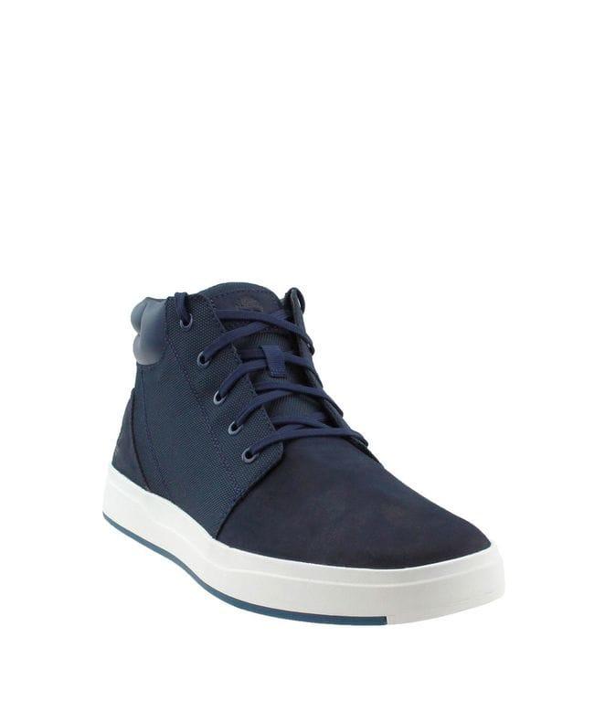 Timberland Men's Davis Square Plain Toe Chukka Casual Shoe in Navy
