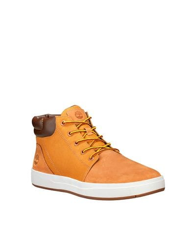 Timberland Men's Davis Square Plain Toe Chukka Casual Shoe in Wheat