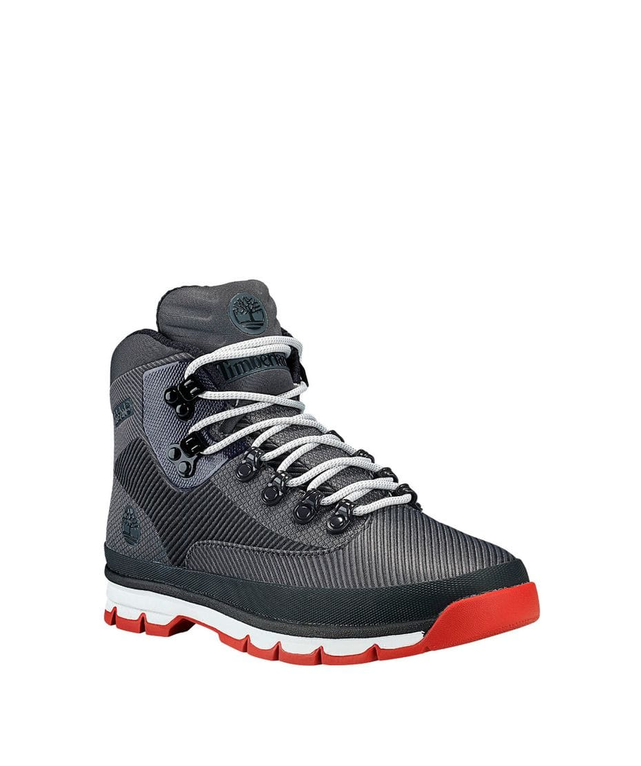 Timberland Men s Jacquard Euro Hiker Boots in Dark Grey