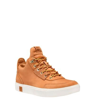 Timberland Men's Amherst High Top Chukka in Wheat Nubuck