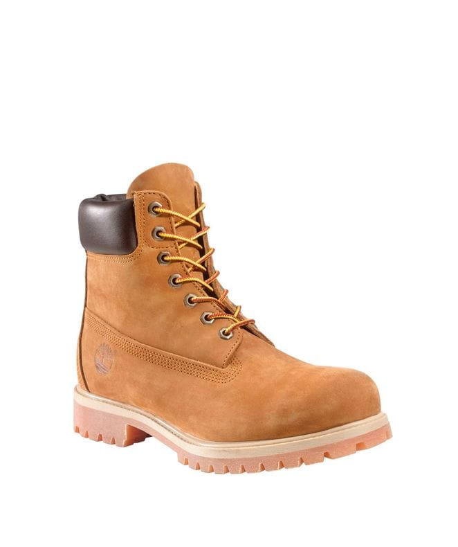 Timberland Men's 6-in Premium Waterproof Boot in Rust Nubuck