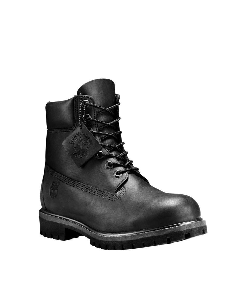 Timberland Men's 6-in Premium Waterproof Boot in Black Full-Grain