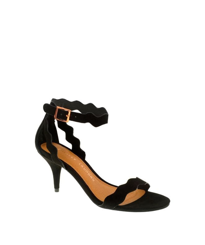 Chinese Laundry Rubie Women's Micro Suede Sandal in Black
