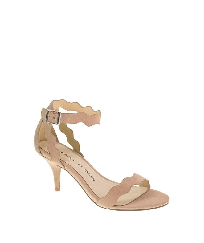 Chinese Laundry Rubie Women's Micro Suede Sandal in Dark Nude