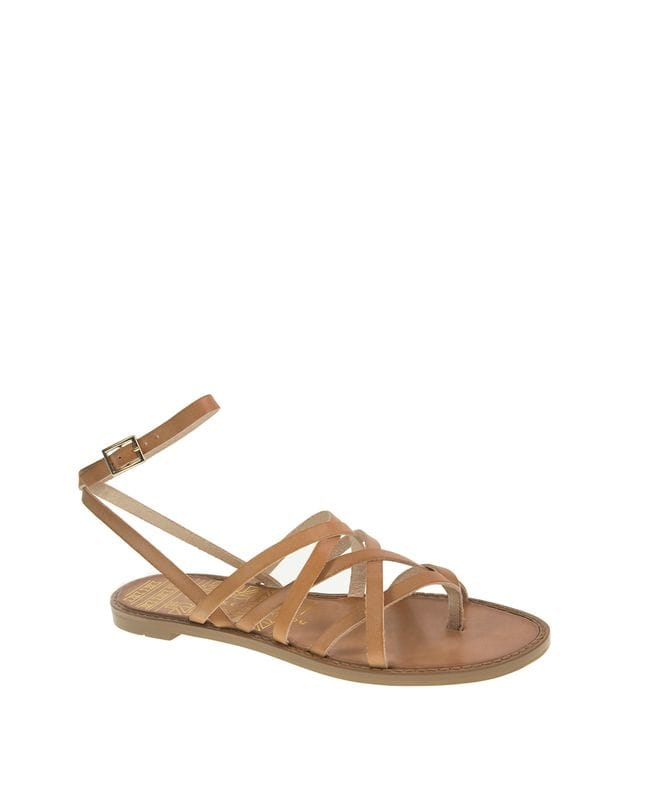 Chinese Laundry Women's Gia Strappy Cage Sandal in Tan