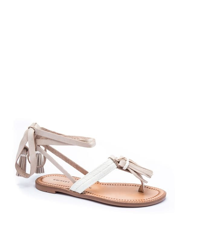 Chinese Laundry Giordana Women's Leather Sandal in Cream