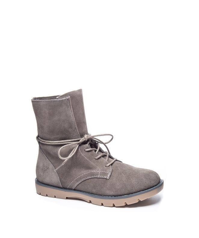 Dirty Laundry Women's Next Up Combat Boot in Suede Grey