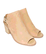 Chinese Laundry Women's Caleb Leather Heeled Sandal in Natural