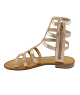 Gemma Women's Gladiator Sandal in Rose Gold Metallic