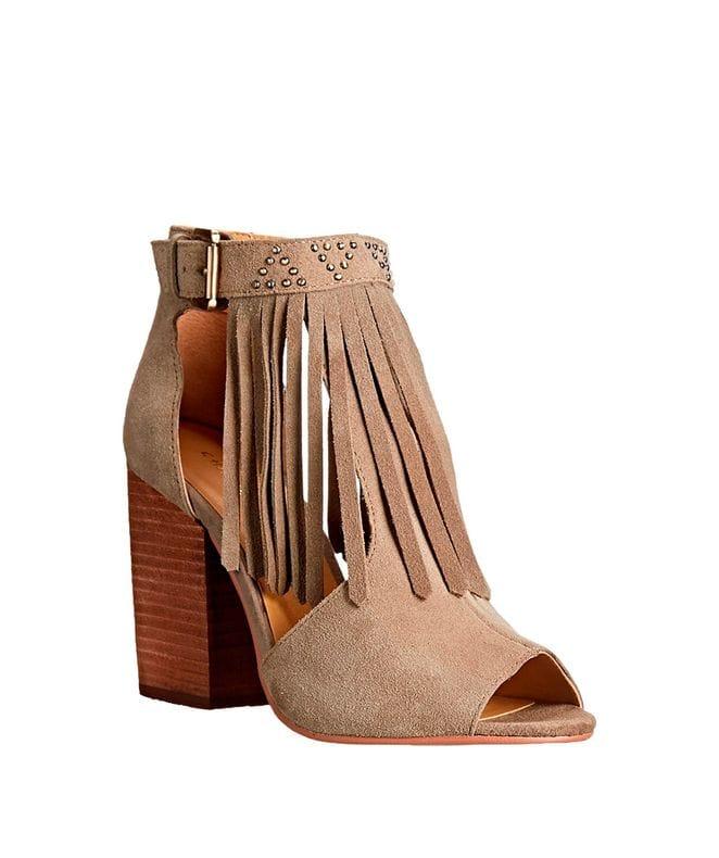 Boho Women's Split Suede Boot in Grey