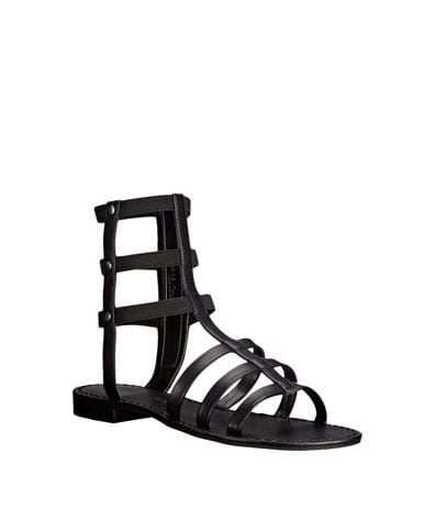 Chinese Laundry Womens Gemma Gladiator Sandal in Black Calf