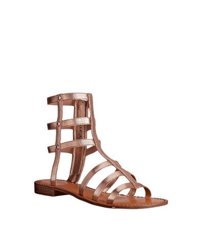 Chinese Laundry Womens Gemma Gladiator Sandal in Rose Gold Metallic