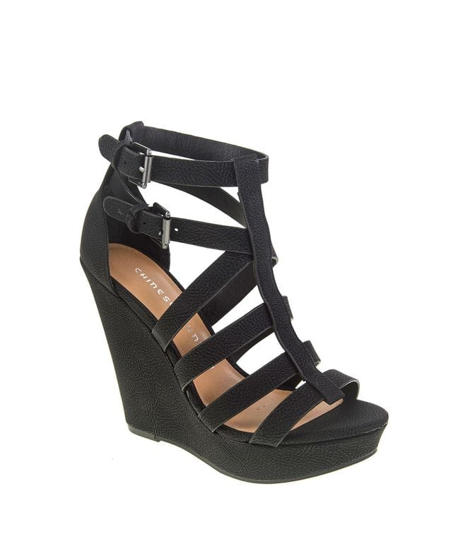 Mali Women's Wedge Sandal in Black