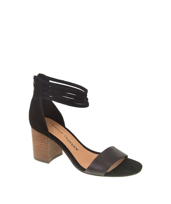 Rylan Women's Split Suede Dress Sandal in Balck
