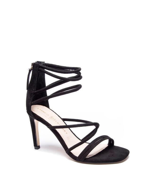 Sheena Women's Micro Sued Dress Sandal in Black
