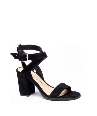 Chinese Laundry Women's Sitara Kid Suede Dress Sandal in Black