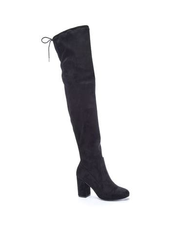 Chinese Laundry Women's Kiara Suedette Slouch Boot in Black