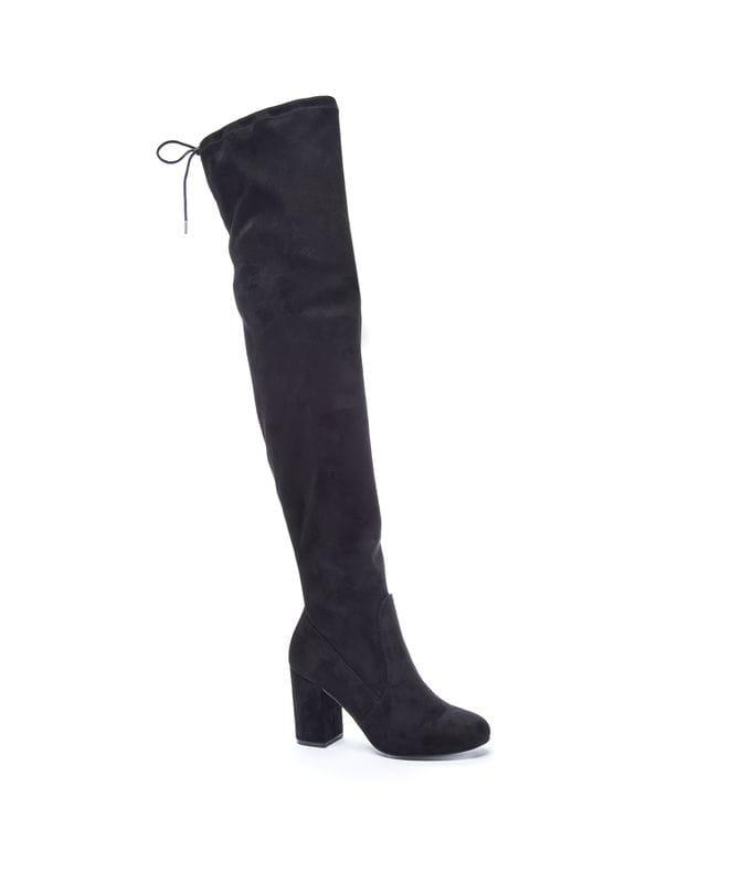 Kiara Women's Suedette Slouch Boot in Black