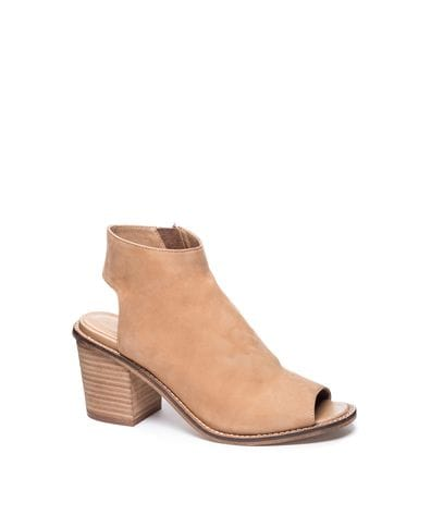 Chinese Laundry Women's Calvin Leather Ankle Bootie in Natural