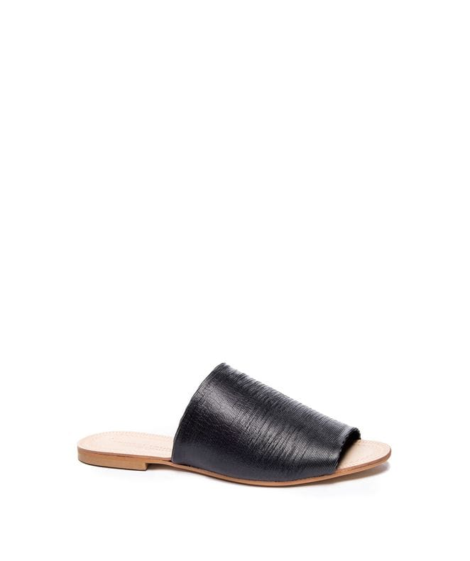 Kristin Cavallari Women's Bahiti Leather Slide Sandal in Black