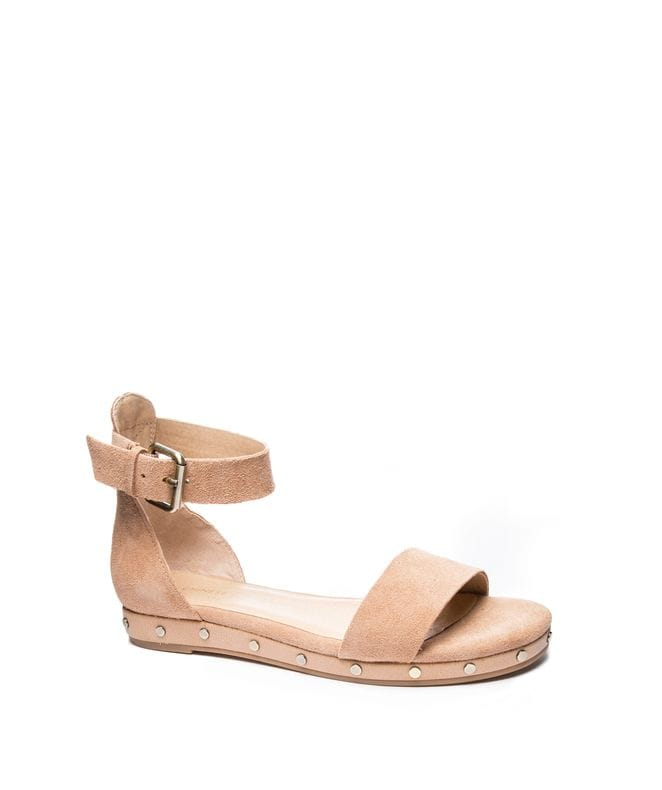 Grady Women's Split Suede Dress Sandal in Camel