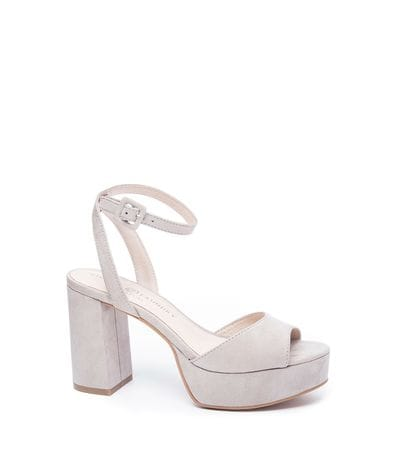 Chinese Laundry Theresa Women's Platform Dress Sandal in Smoke Grey
