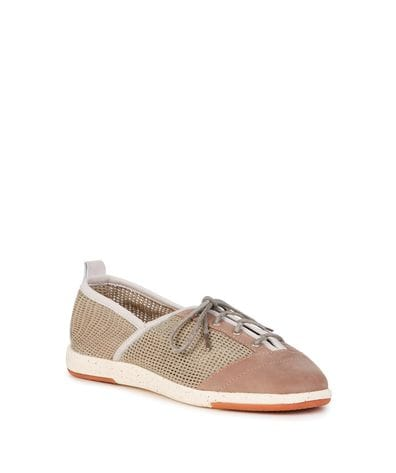 EMU Australia Pilbara Women's Canvas Casual/Balance Flat in Mushroom