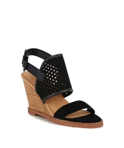 EMU Australia Allamanda Women's Leather Wedge Sandal in Black