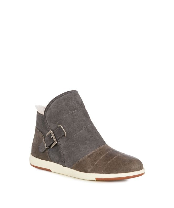 Bardo Women's Cow Suede Boot Casual/Balance in Charcoal