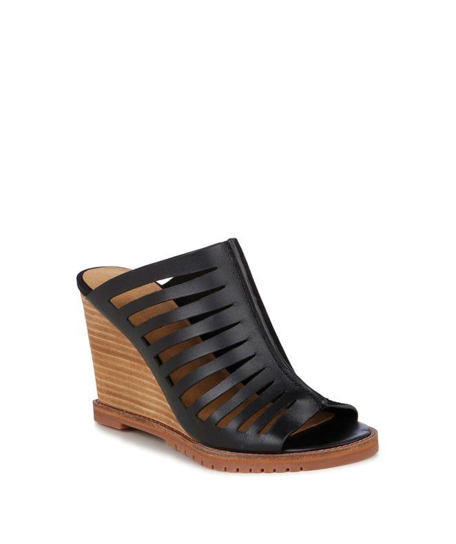EMU Australia Bohena Women's Leather Wedge Sandal in Black