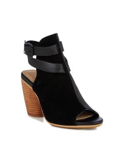 EMU Australia Catrillis Women's Leather Wedge Sandal in Black