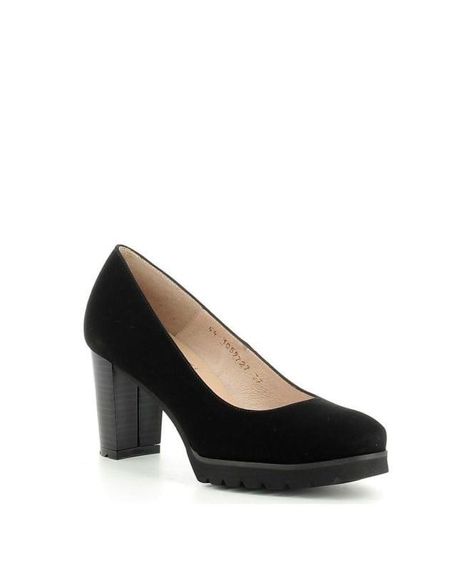 Gadea Women's Chunky Heels 40301-PR in Black Suede