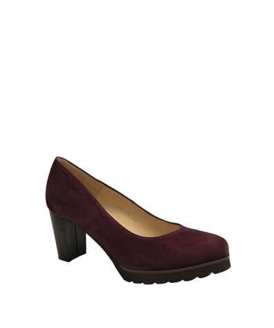 Gadea Women's Chunky Heels 40301-PR in Burgundy Suede