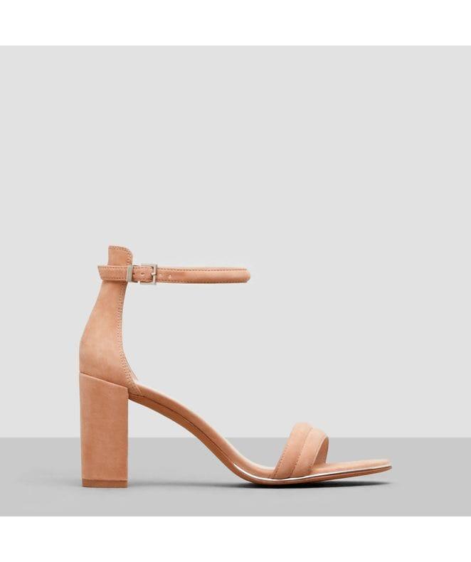Kenneth Cole Lex Women's Open-Toe Heel in Buff